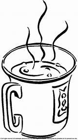 Coloring Chocolate Drinks Milk Coffee Drink Drinking Drawing Printable Mug Cup Jug Tea Sheets Carton Juice Colouring Sheet Angeles Los sketch template