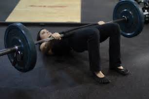 barbell glute bridge exercise guide and