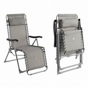 Fauteuil Relax Jardin : fauteuil relax silos gris achat vente fauteuil jardin ~ Nature-et-papiers.com Idées de Décoration