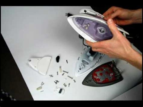 rowenta steam iron parts iron disassembly process