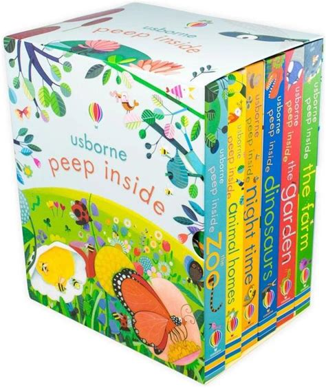 Peep Inside Complete 6 Board Books Collection Ages 0 5