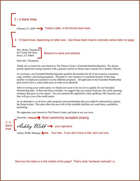 professional business letter sample letters
