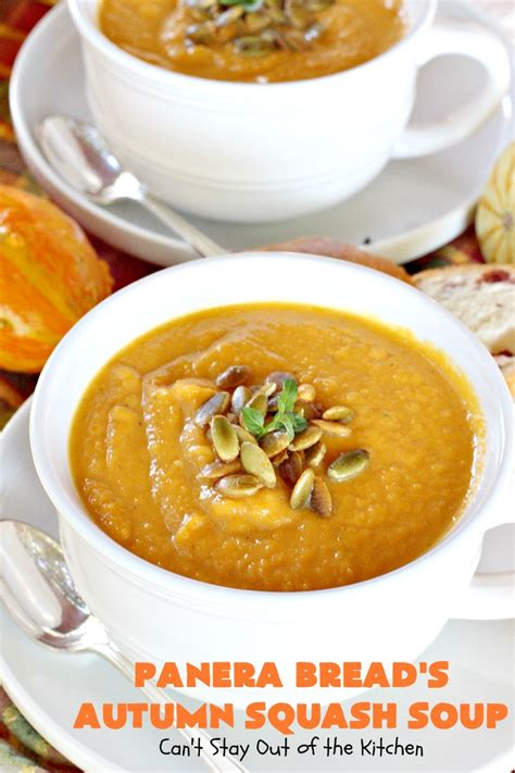 panera breads autumn squash soup  stay