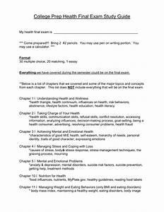 College Prep Health Final Exam Study Guide
