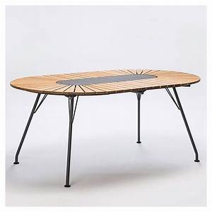 Table De Jardin Ovale : eclipse table jardin ovale en bambou houe ~ Teatrodelosmanantiales.com Idées de Décoration