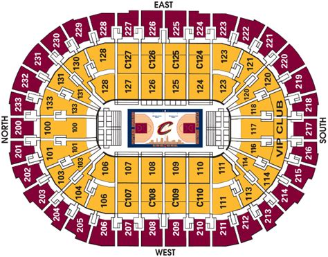 Cavs Lakers Floor Seats by Cavs Seating Chart With Seat Numbers Cleveland Cavaliers