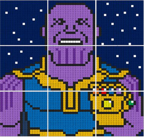 infinity war thanos division mural coloring squared
