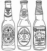Beer Bottle Drawing Line Coloring Pages Drawings Bottles Alcohol Printable Tattoo Svg Printables Google Getdrawings Getcolorings Drawn Modelo Projects Cool sketch template