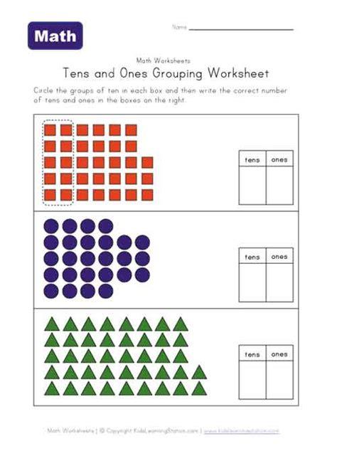 year 1 tens ones grouping worksheet representing