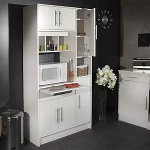 Buffet micro ondes 6 portes 1 tiroir 4 niches for Deco cuisine avec buffet original meuble