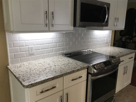 36 Beveled Edge Subway Tile Backsplash Odessa Florida