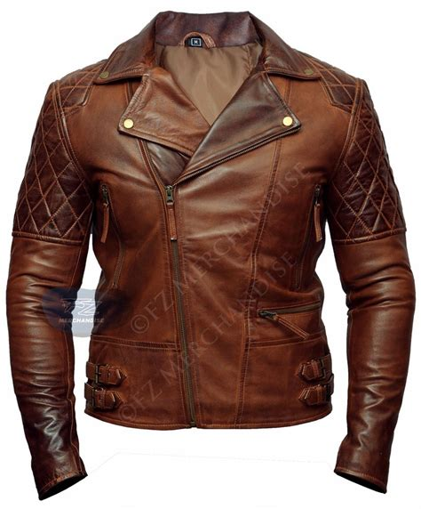 classic leather motorcycle jackets mens classic motorcycle biker brown distressed