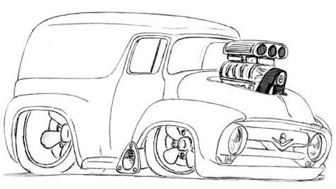 Kleurplaat Hotrod by 37 Truck Coloring Pages Ford Coloring Pages