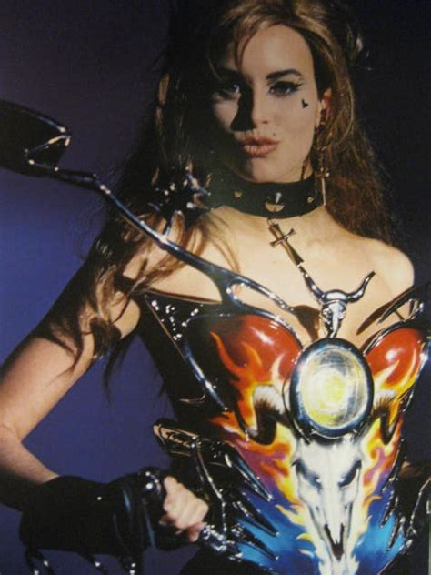 motorcycle corset thierry mugler niki taylor fashion