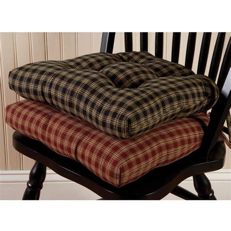 country kitchen chair cushions with ties sturbridge plaid chair pad sturbridge yankee workshop 9493