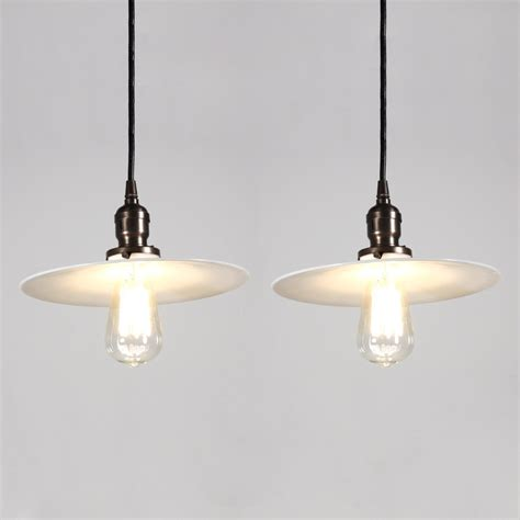 vintage glass light shades two matching antique industrial pendant lights with milk