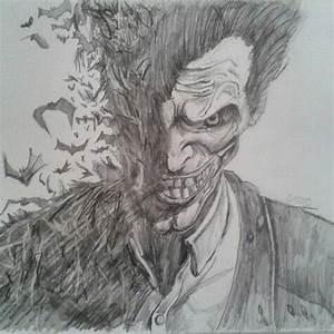 Just finished joker drawing #batman arkham origins ...