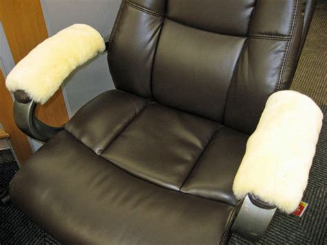 Armchair Protectors Covers by Ivory Merino Sheepskin Armrest Covers Pad Scooter