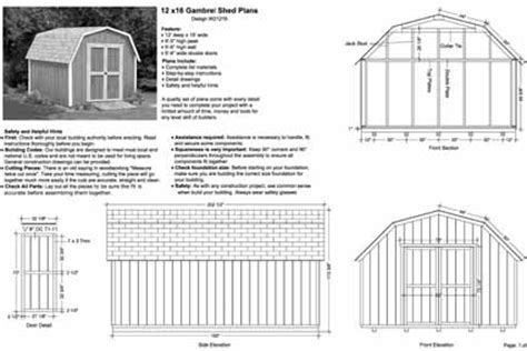 12 x16 barn storage shed plans buy it now get it fast