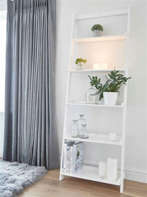 white wooden shelf ladder wooden ladder shelf white
