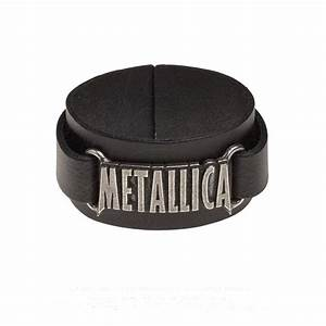 Official Alchemy METALLICA Leather Buckle Wristband Strap ...