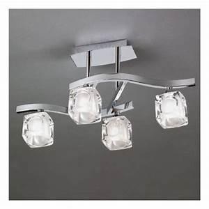Luminaire Design Pas Cher : mantra colecci n luminaire plafonnier gla on 4 lampes ~ Dailycaller-alerts.com Idées de Décoration