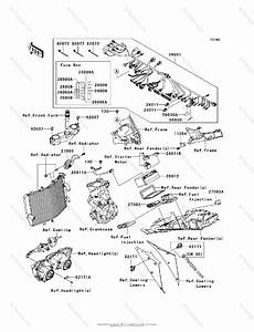 Kawasaki Motorcycle 2007 Oem Parts Diagram For Chassis Electrical Equipment