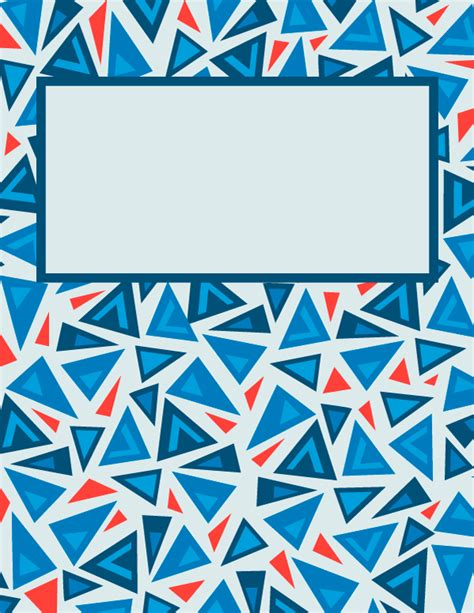 Free printable triangle binder cover template. Download ...