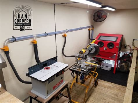 shop vac dust collection system woodworking shop layout