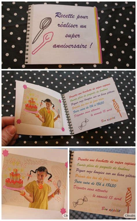 anniversaire cuisine invitation anniversaire enfant thème cuisine diy