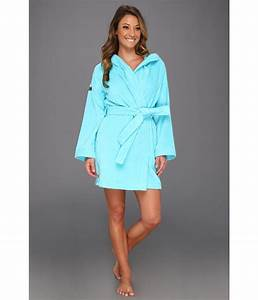 Lacoste smash robe in blue lyst for Lacoste robe