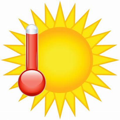 Weather Clip Icon Clipart Thermometer Transparent Warm