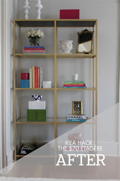 etagere bureau conforama fabulous ikea hack the etagere via diy ikea gold shelves