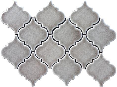 arabesque porcelain tile 9 79sf dove gray arabesque glazed ceramic mosaic tile