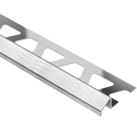 schluter eck k stainless steel 1 9 32 in x 8 ft 2 1 2 in metal corner tile edging trim k32v2a