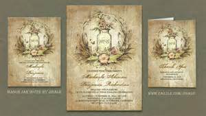 country themed wedding invitations read more rustic floral vintage jar wedding invitation wedding invitations by jinaiji