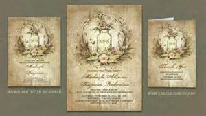 jar bridal shower invitations read more rustic floral vintage jar wedding