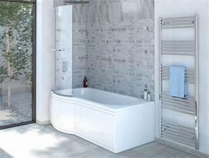 Sitzbadewanne Mit Dusche : duschbadewanne 170x85 cm l mit badewannenaufsatz badewanne mit ~ Frokenaadalensverden.com Haus und Dekorationen
