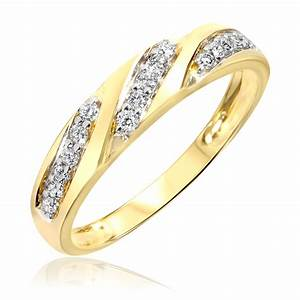 14 Carat TW Diamond Women39s Wedding Ring 14K Yellow