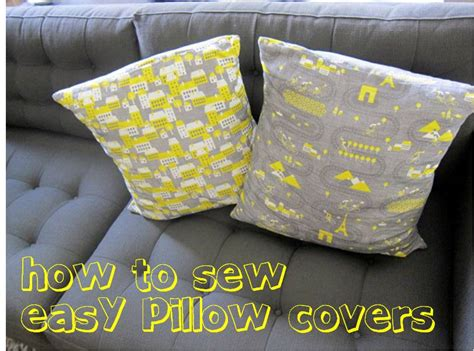 how to sew pillow covers how to sew easy removable pillow covers freshstitches