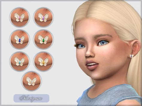 Mariposa Earrings For Toddlers at Giulietta » Sims 4 Updates