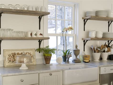 reclaimed wood kitchen shelves refresheddesigns trend to try open shelving in the kitchen