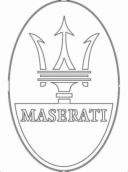 Maserati Coloring Logos Colorir Ferrari Voiture Colorare