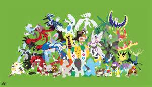 All Legendary Pokemon Minimalist Wallpaper