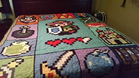 Legend Of Zelda Quilt Video Game Fun Pinterest