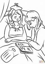 Enfermos Ayudando Orando Kolorowanka sketch template