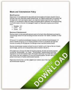 Compensation Letter Sample Meal And Entertainment Reimbursement