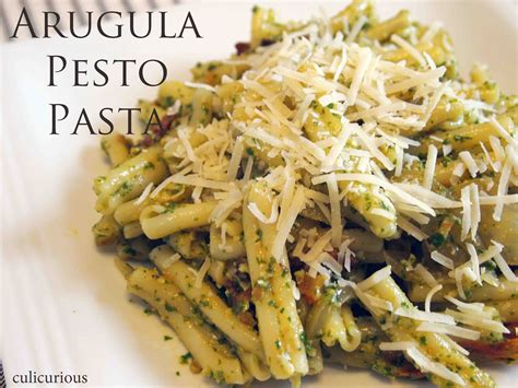 arugula pesto pasta recipe culicurious
