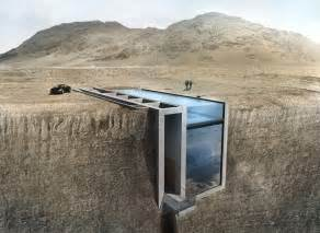 Monolithic Dome Homes Floor Plans by Opa Presents Conceptual Cliffside Casa Brutale On The