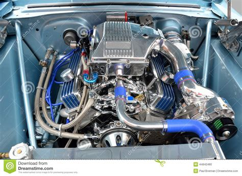 Car Engine Details Stock Photo Image Of Powerful, Engine